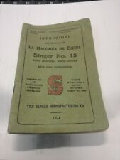 Istruzioni macchina da per cucine Singer n.15 anno 1921 lingua italiano vintage