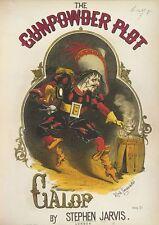 La poudre à canon parcelle gallop guy fawkes 5th novembre dynamite 1866, 7x5 pouces imprimer