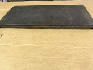 """Hobart/GE  # 342117-1 Range 12"""" X 24"""" Cast Iron Hot Plate, Good Used Condition!"""