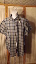 M10  Men's 2X Cherokee Blue Plaid  Short Sleeves Shirt