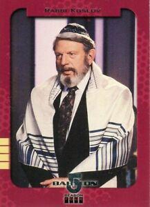 BABYLON 5 1998 Season 4 Retrospective Card # S8 Rabbi Koslov!!! Skybox