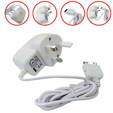 COMPACT 3 PIN UK 30 PIN MAINS PLUG WALL CHARGER APPLE iPHONE 4 4GS 4G 4S iPad 2