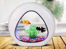 GankPike 1 Gallon Fish Aquarium Betta Fish Tank Betta Fish Bowl with Filter, Air