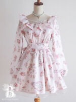 🌹LIZ LISA🌹Flower Letter One Piece Dress Pink Hime Lolita Japan-M E774
