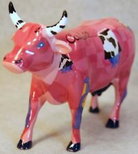 COW PARADE COWBELL PINK COWS ON PARADE 9203 RETIRED - HOUSTON EXHIBIT - MIB