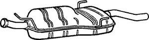 Exhaust Back / Rear Box fits SAAB 900 Mk2 2.0 Klarius 4225751 Quality Guaranteed