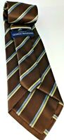 Giorgio Mariani Cravatte of Italy, Men's Tie, Woven Silk Tie, Brown striped