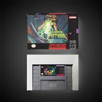 Hyper Metroid USA NTSC Version With Retail Box RPG Game Battery Save Free Ship