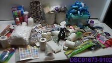 Qty = 127: Mixed Lot of Craft Supplies. Brushes, Ribbon, Wax, Glitter, Storage