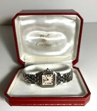 Panthere De Cartier 1320 Ladies Stainless Steel Watch Sapphire Cabachon Stem