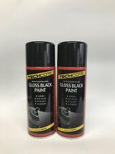 Techcote Haute Température, noir brillant Case Spray Paint TC140 X2