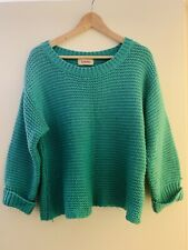 Louche Turquoise Jumper Knitware Oliver Bonas Size M/L
