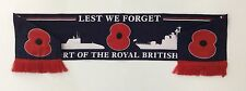 OFFICIAL POPPY APPEAL FUND SCARF. ROYAL BRITISH LEGION. NAVY NAVAL SHIP. (Badge)