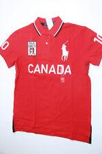 Polo Ralph Lauren Men Red Shirt Big Pony Canada Flag XXLarge 2XL XXL  CUSTOM FIT