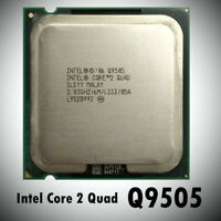 CPU 2.8GHz LGA775 Intel Core 2 Quad Q9505 1333MHz Quad-Core Processor 6M Used RD