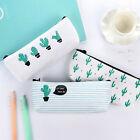 Cute Cactus Pencil Pen Case Cosmetic Makeup Bag Storage Pouch Purse Stationery