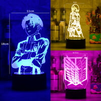 Acrylic Table Lamp 3D Led Anime Attack on Titan Night  for Home Room Decor Gift