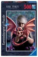 RAVENSBURGER JIGSAW PUZZLE DRAGON GIRL ANNE STOKES 500 PCS FANTASY #14643