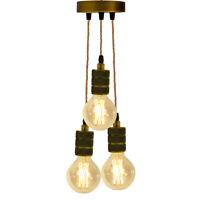 Vintage Industrial Metal Ceiling Pendant Light Shade Cluster Light fully earthed