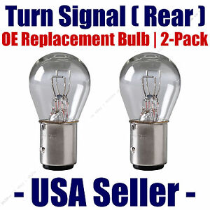 Rear Turn Signal Light Bulb 2-pack Fits Listed Saturn Vehicles - 7528