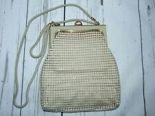 GLOMESH Vintage Small Chain Mail Cream Shoulder Bag Handbag, Made in Australia