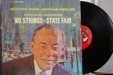 Richard Rodgers NO STRINGS & STATE FAIR Boston Pops/Arthur Fiedle - Vinyl LP  VG