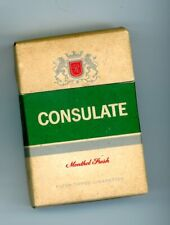 Consulate Menthol Fresh Filter Tipped Empty Cigarette Box Made In New Zealand