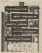 Tenpole Tudor Any Trouble Stiff Tour advert 1980