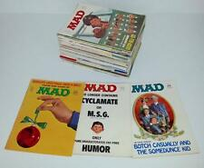 Vintage Mad Magazine Lot 47 Issues 1970-1986 Overall Good to Fine