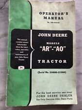John Deere Unstyled Ar And Ao Tractor Operators Manual