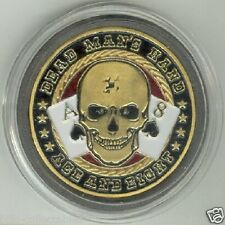 Dead Man's Hand - Ace and Eight Poker Card Guard Protector - Gold Color
