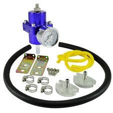 Benzindruckregler Universal Blau 0 - 7 Bar einstellbar m. Manometer inkl Zubehör