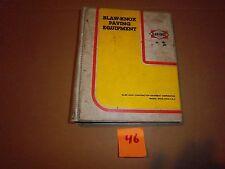 BLAW KNOX PAVING PES-10-1 POWER SCREED PF-172 FINISH PAVER OPERATOR PARTS MANUAL