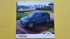 Kia Niro 1 2 3 First Edition paper brochure car sales catalogue August 2016 MINT