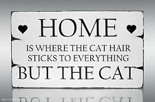 Sa44 Home Cat Hair Wood Gift Shabby Vintage Chic Sweet Table Sign Standing
