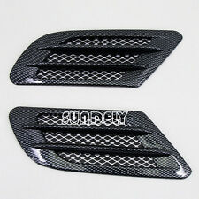 2 SIDE CARBON FIBRE CAR BONNET AIR INTAKE FLOW SIDE FENDER VENT HOOD SCOOP
