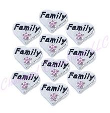 10pc Floating Charm Lot For Glass Memory Locket Family Heart Love Flower