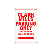 Clark Mills Parking Only Boat Ship yacth Marina Lake Dock Aluminum Metal Sign
