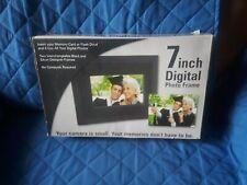 Digital Photo Frame 7 Inch Black And Silver Interchangeable Designer Frames New
