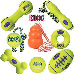 KONG Airdog Squeak Ball Air Dog Rope Fetch Stick Football Dumbell Aqua Water