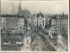1945 Press Photo Stettin 1940s Germany Truss Bridge Szczecin Poland