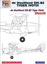 H-modello Decalcomanie 1/48 DE HAVILLAND DH.82 Tiger Moth Stencil # 48026