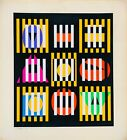 YAACOV AGAM SERIGRAPH ON PAPER HAND SIGNED & DATED COA