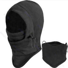 UNISEX SNOOD 4in1 Fleece scarf Hood Balaclava Neck Winter warmer MASK Black cn