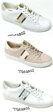 Women MK  Michael Kors Irving Casual Lace Up  Sneake MK Logo Leather