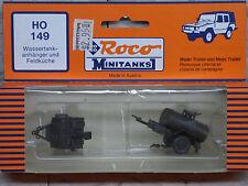 Roco / Herpa Minitanks (NEW) WWII US Water trailer & Mess Trailer Lot #174K