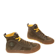 RRP €120 DIESEL S-ASTICO MC LOGO Leather Sneakers EU 42.5 UK 8.5 US 9.5 Lace Up