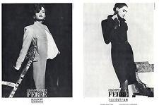 1988 Ferre Herb Ritts Cindy Crawford Famke Janssen 3-page MAGAZINE AD