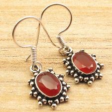 925 Silver Overlay Carnelian Earrings ! Jewelry Store ! Price Start From $0.99