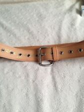 Mans Beige Leather Belt Large